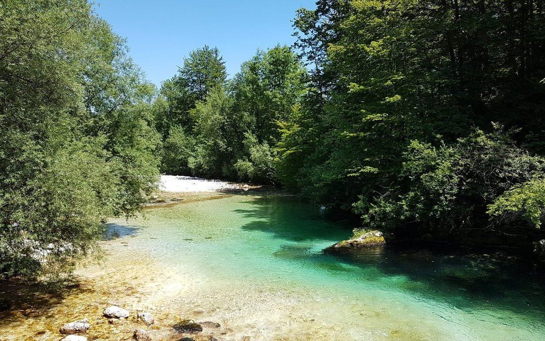 řeka Bohinjka - Slovinsko
